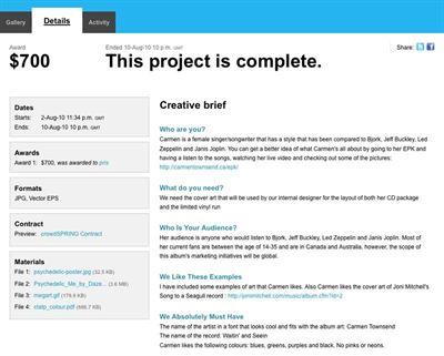 Design brief template example.