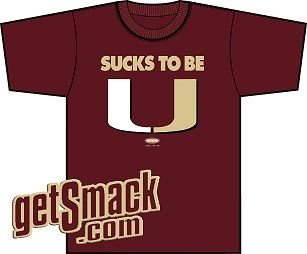 T Shirt Spoofing Miami Latest Scandal Has Rival Fans Howling Cane Fans Wincing Smack Apparel