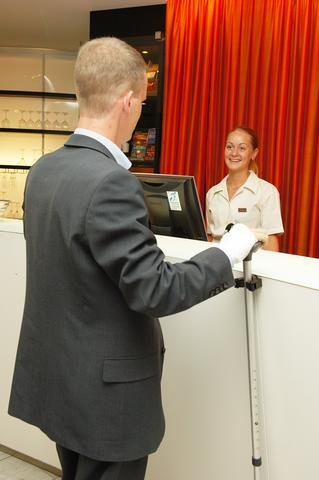 Hearing loops and cane holders at the Scandic hotel chain