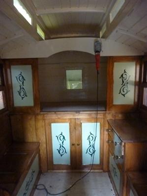 Inside gypsy caravan cision wire