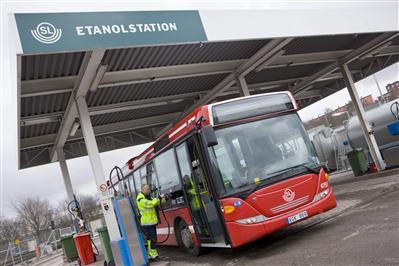 Keolis Scania ethanol bus