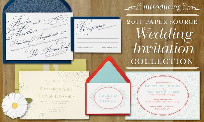 Paper Source Introduces The 2011 Wedding Invitation Collection With Enhanced
