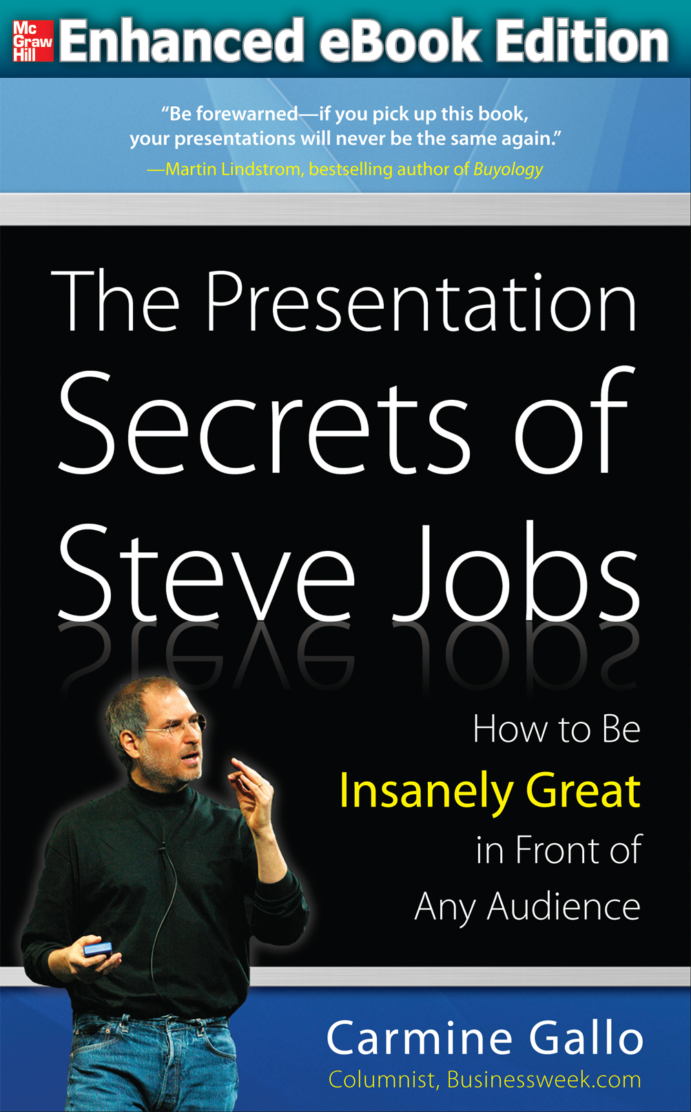 Give a presentation like steve jobs enhanced video ebook for Steve jobs powerpoint template