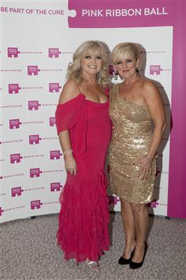 Pink Ribbon Ball Patron Linda Nolan with her sister Bernie