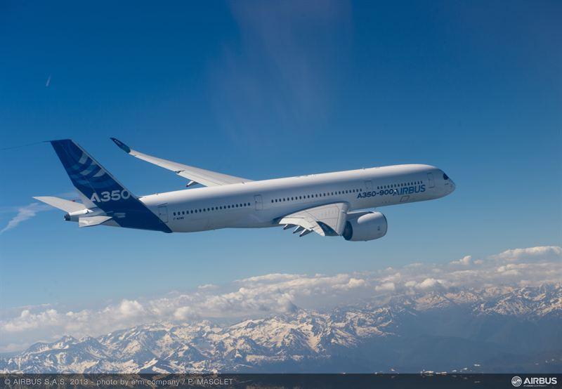 A350 XWB air to air first flight 2