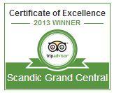 TripAdvisor 2013 Certificate of Excellence bild