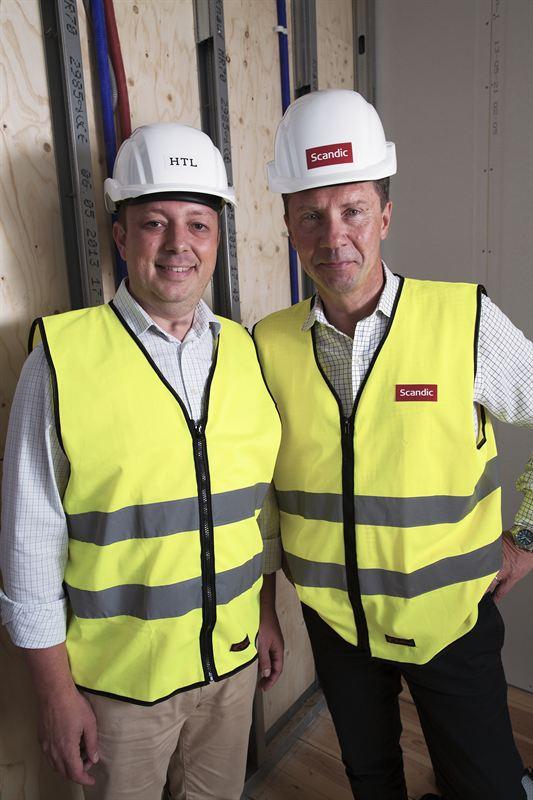 Joachim Högefjord, VD HTL och Anders Ehrling, koncernchef Scandic.