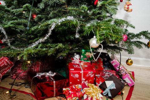 Season- christmas tree- presents- gifts